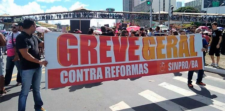 Região do Iguatemi foi um dos locais de intensa mobilização contra as reformas previdenciária e trabalhista (foto Edilson Lima/Ag. A TARDE)