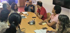 Francisco Magalhães (presidente) e Luiz Américo (vice) representaram o Sindimed na reunião com chefe de Gabinete da Sesab, Luiz Cláudio Guimarães