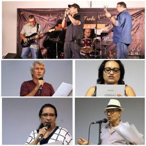 Grupo A Janela do Rei se apresentou após os versos de Rosalvo Abreu, Eliete Paiva, Simone Sampaio e Hildo Simões